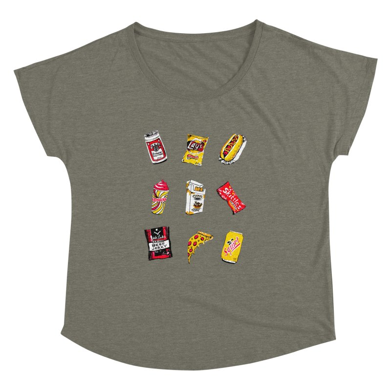 Snacksterpiece Women's Dolman by PRINTMEGGIN