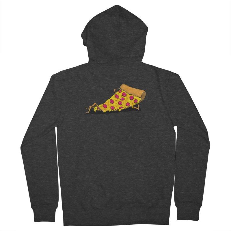 Pizza Lounging Men's Zip-Up Hoody by PRINTMEGGIN