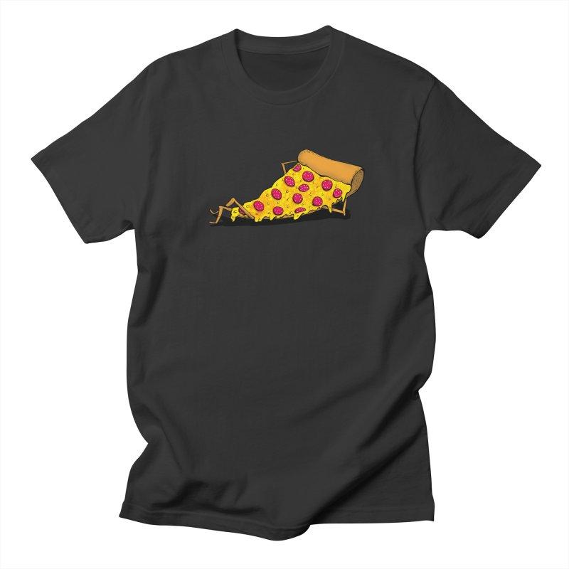 Pizza Lounging Men's T-Shirt by PRINTMEGGIN
