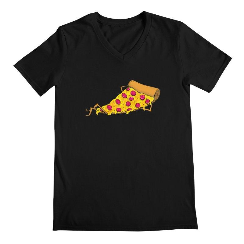 Pizza Lounging Men's V-Neck by PRINTMEGGIN