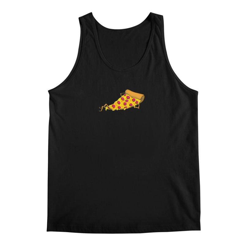 Pizza Lounging Men's Tank by PRINTMEGGIN
