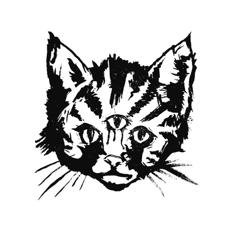 Three Eyed Kitty by PRINTMEGGIN