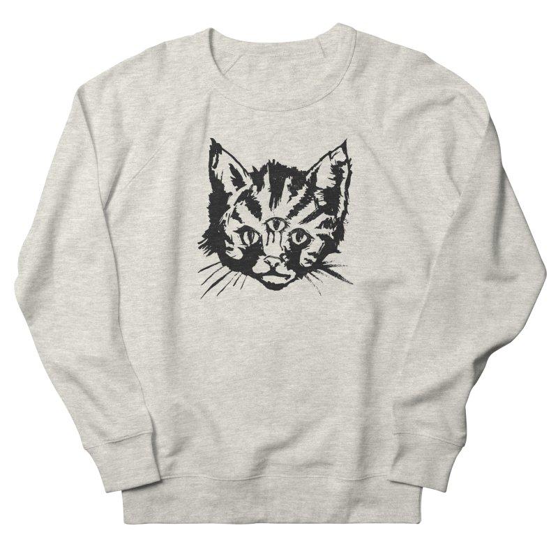 Three Eyed Kitty Men's Sweatshirt by PRINTMEGGIN
