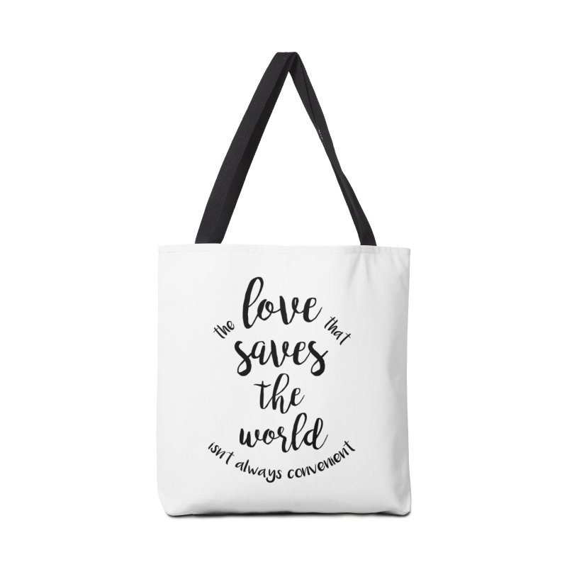 LOVE SAVES THE WORLD Accessories Bag by PRINTMEGGIN
