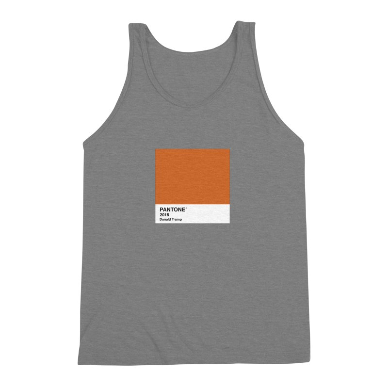 Donald Trump Pantone Men's Triblend Tank by PRINTMEGGIN