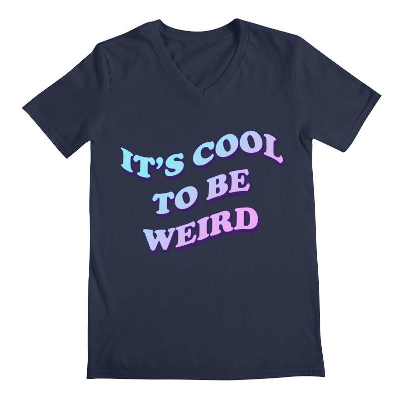 Cool 2 B Weird Men's V-Neck by PRINTMEGGIN