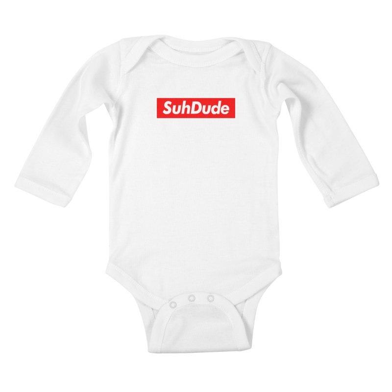 SuhDude Kids Baby Longsleeve Bodysuit by PRINTMEGGIN