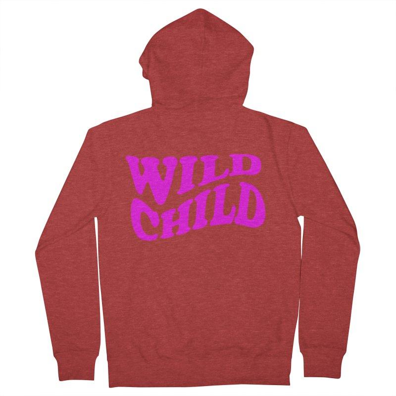 WILD CHILD Women's Zip-Up Hoody by PRINTMEGGIN
