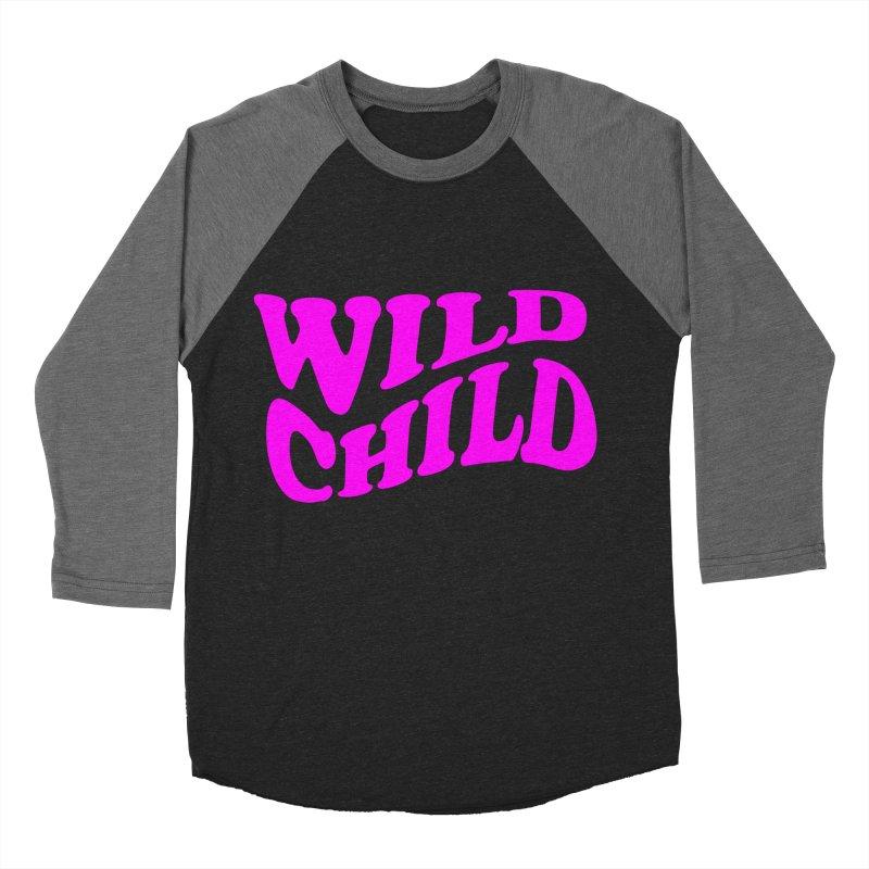 WILD CHILD Women's Baseball Triblend T-Shirt by PRINTMEGGIN