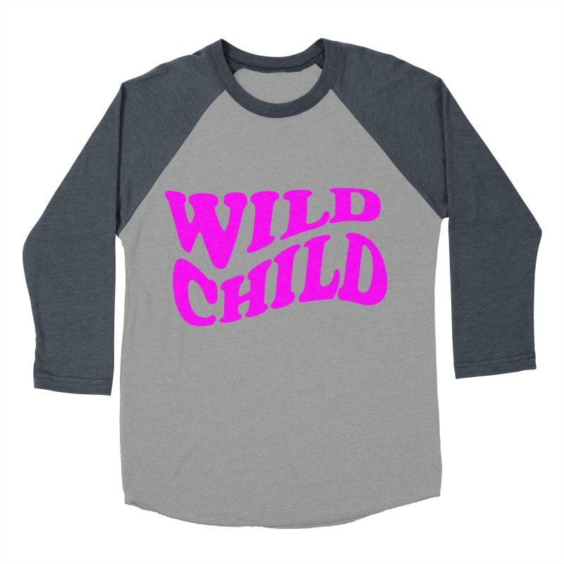WILD CHILD Women's Baseball Triblend T-Shirt by PRINTMEGGIN