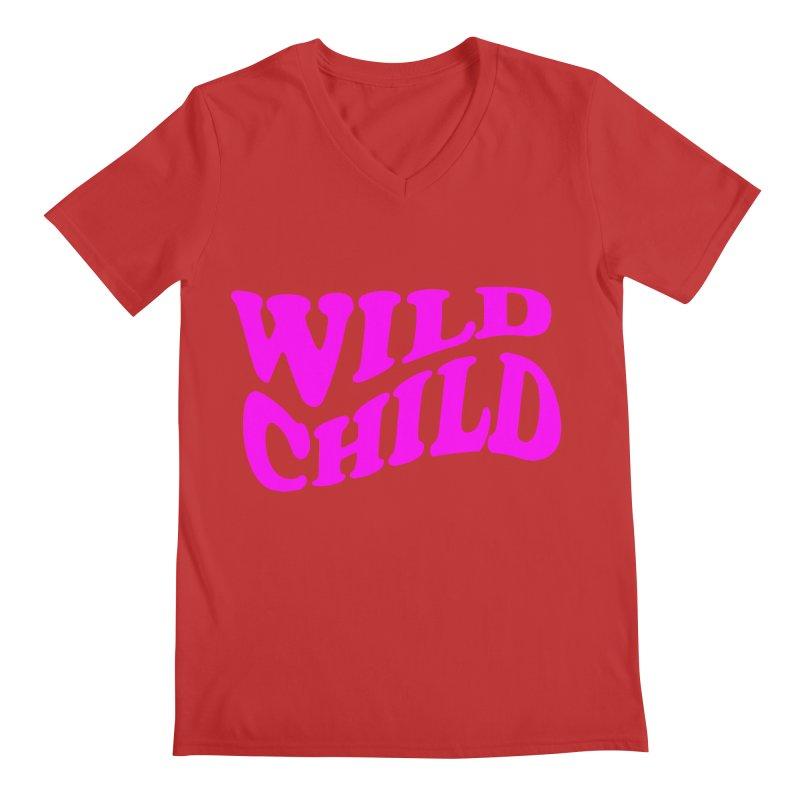 WILD CHILD Men's V-Neck by PRINTMEGGIN