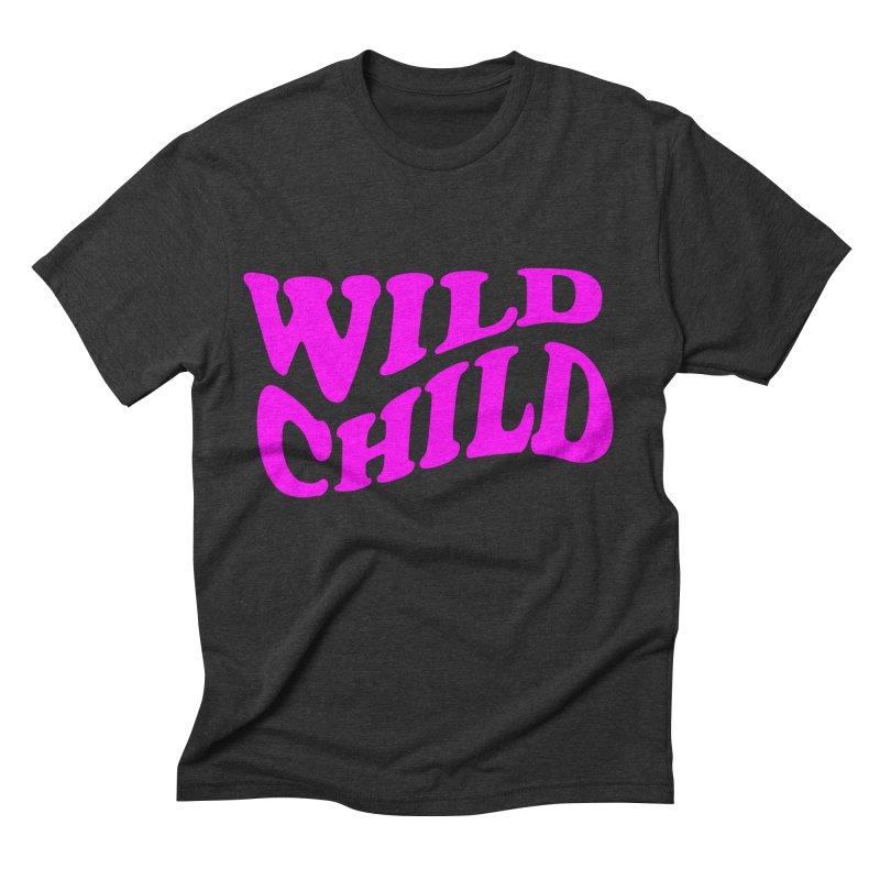 WILD CHILD Men's Triblend T-shirt by PRINTMEGGIN