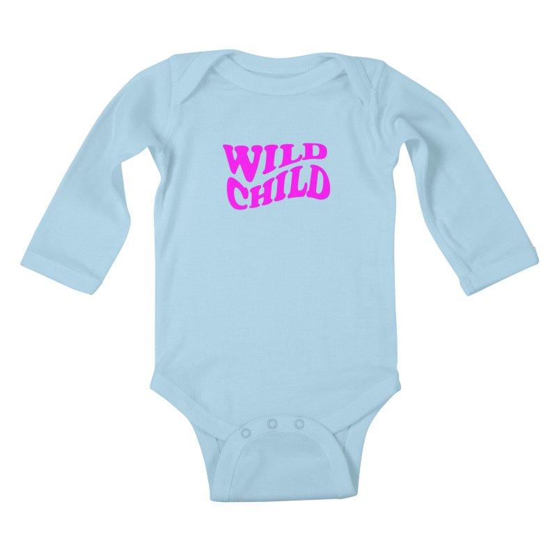 WILD CHILD Kids Baby Longsleeve Bodysuit by PRINTMEGGIN