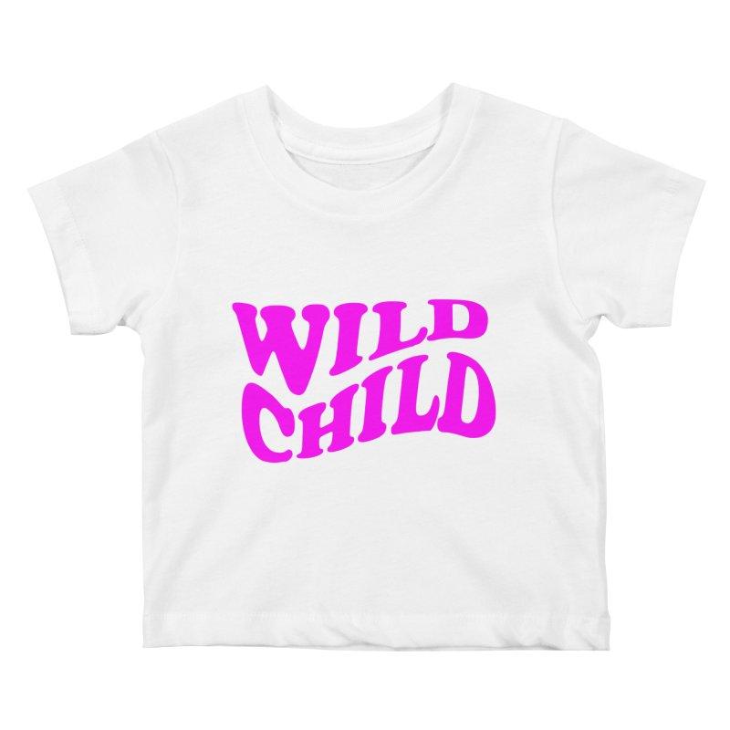 WILD CHILD Kids Baby T-Shirt by PRINTMEGGIN