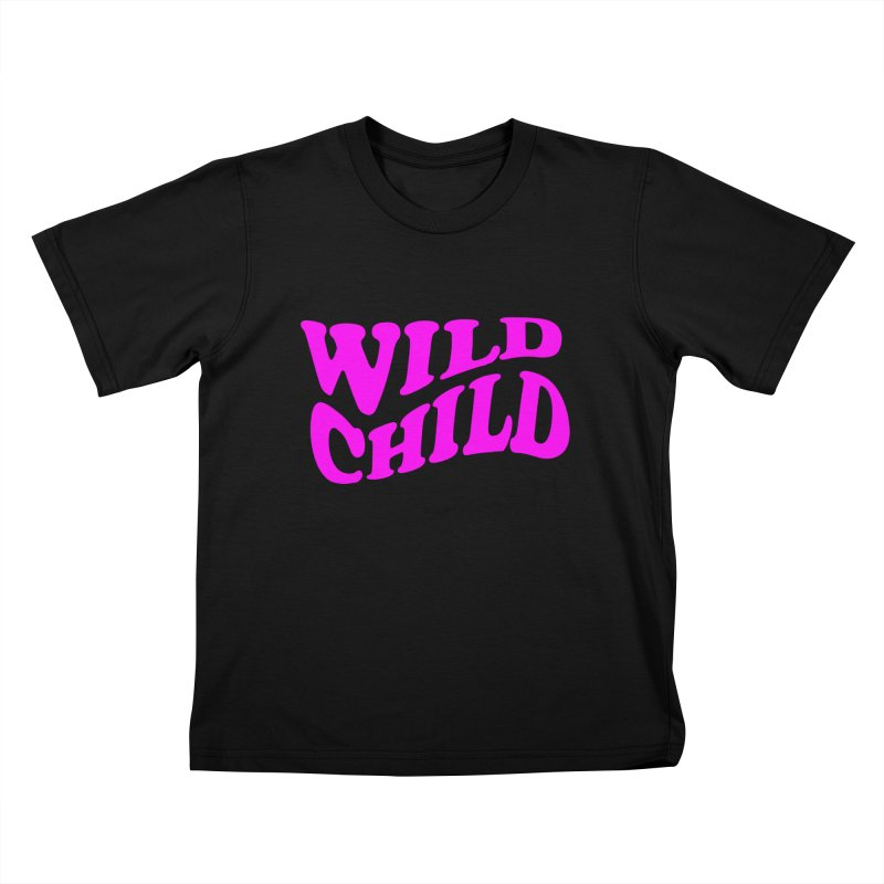 WILD CHILD Kids T-shirt by PRINTMEGGIN