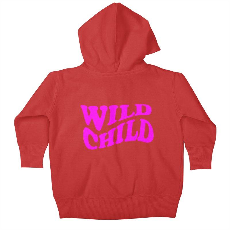 WILD CHILD Kids Baby Zip-Up Hoody by PRINTMEGGIN