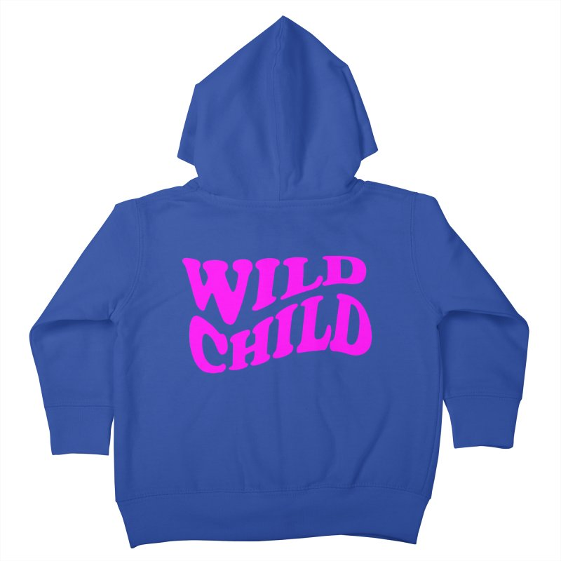 WILD CHILD Kids Toddler Zip-Up Hoody by PRINTMEGGIN