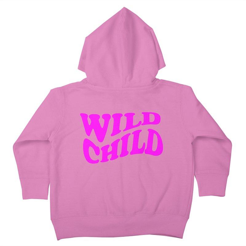 WILD CHILD Kids Toddler Zip-Up Hoody by PRINTMEGGIN