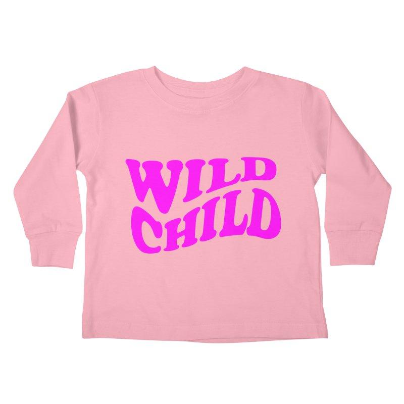 WILD CHILD Kids Toddler Longsleeve T-Shirt by PRINTMEGGIN
