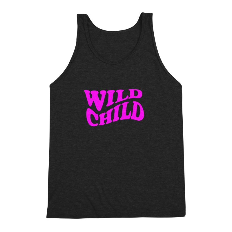 WILD CHILD Men's Triblend Tank by PRINTMEGGIN