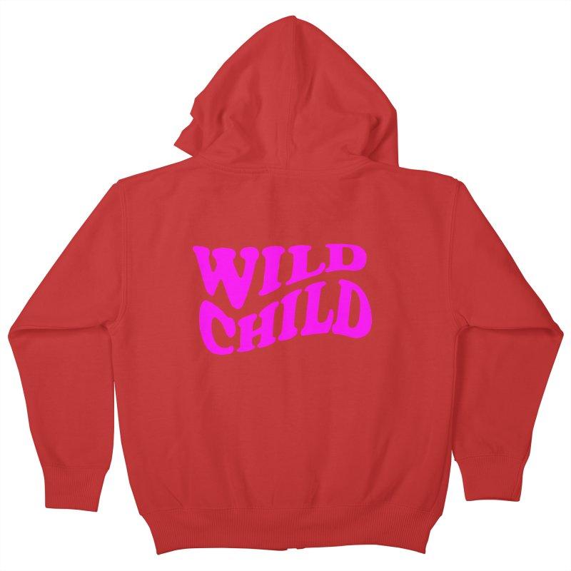 WILD CHILD Kids Zip-Up Hoody by PRINTMEGGIN