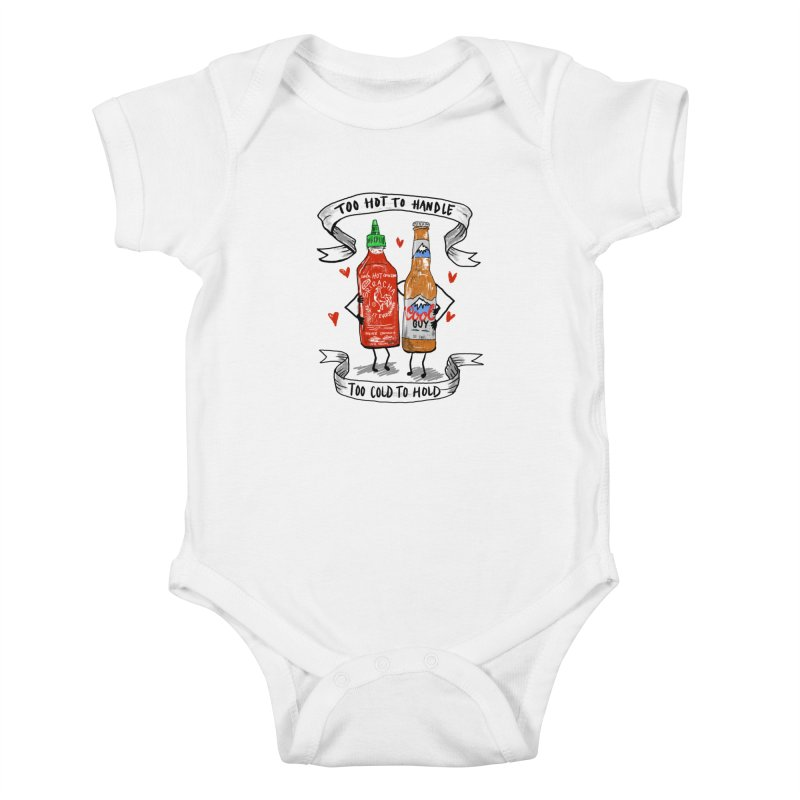Too Hot to Handle, Too Cold to Hold Kids Baby Bodysuit by PRINTMEGGIN