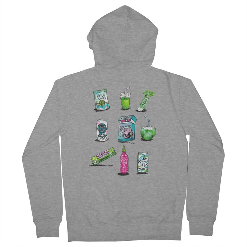 Snacksterpieces - Natural  Women's Zip-Up Hoody by PRINTMEGGIN