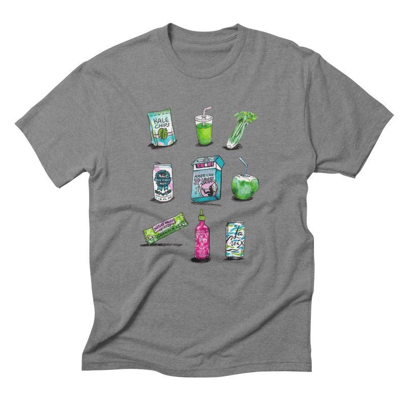 Snacksterpieces - Natural  Men's Triblend T-Shirt by PRINTMEGGIN