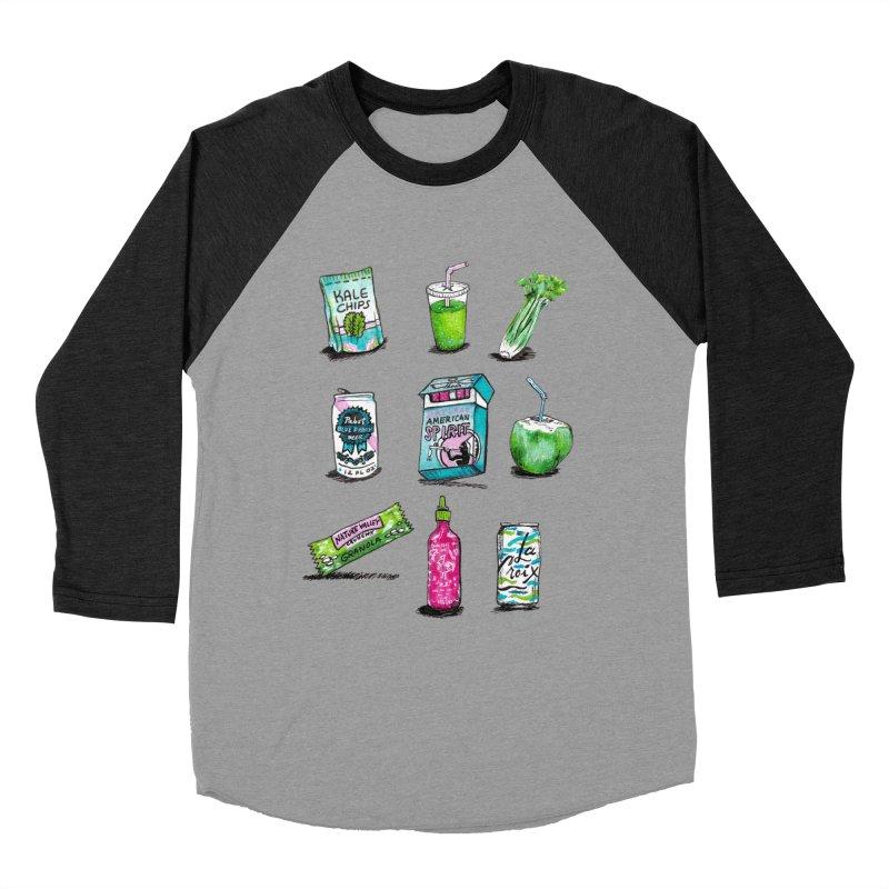 Snacksterpieces - Natural  Men's Baseball Triblend T-Shirt by PRINTMEGGIN