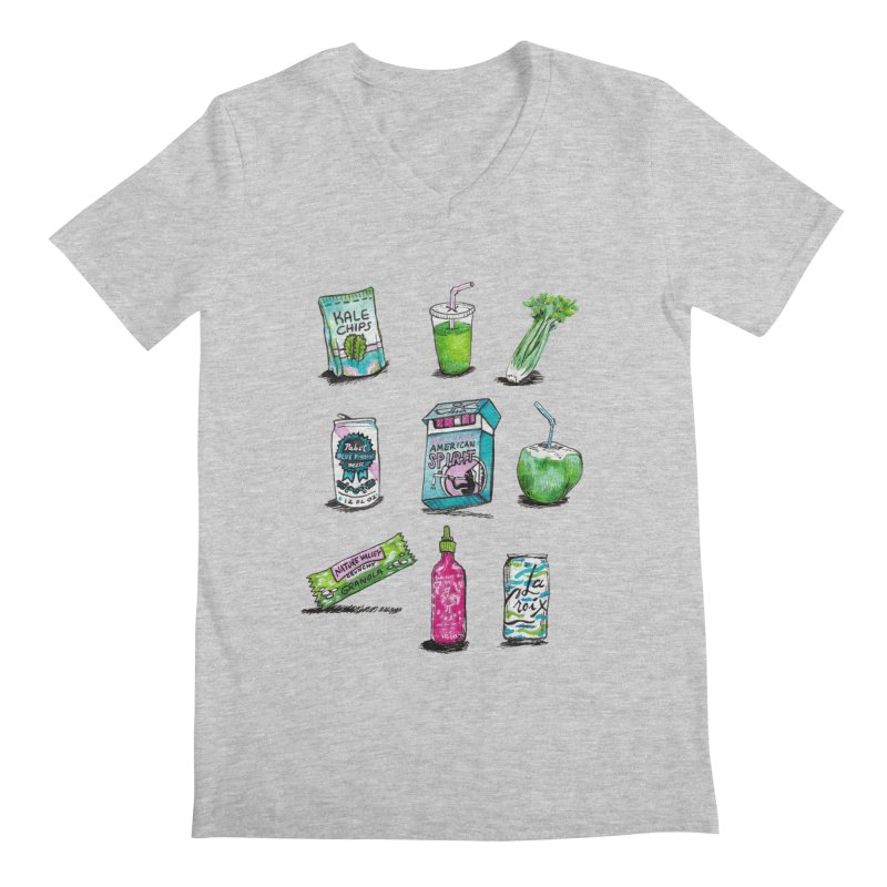 Snacksterpieces - Natural  Men's V-Neck by PRINTMEGGIN