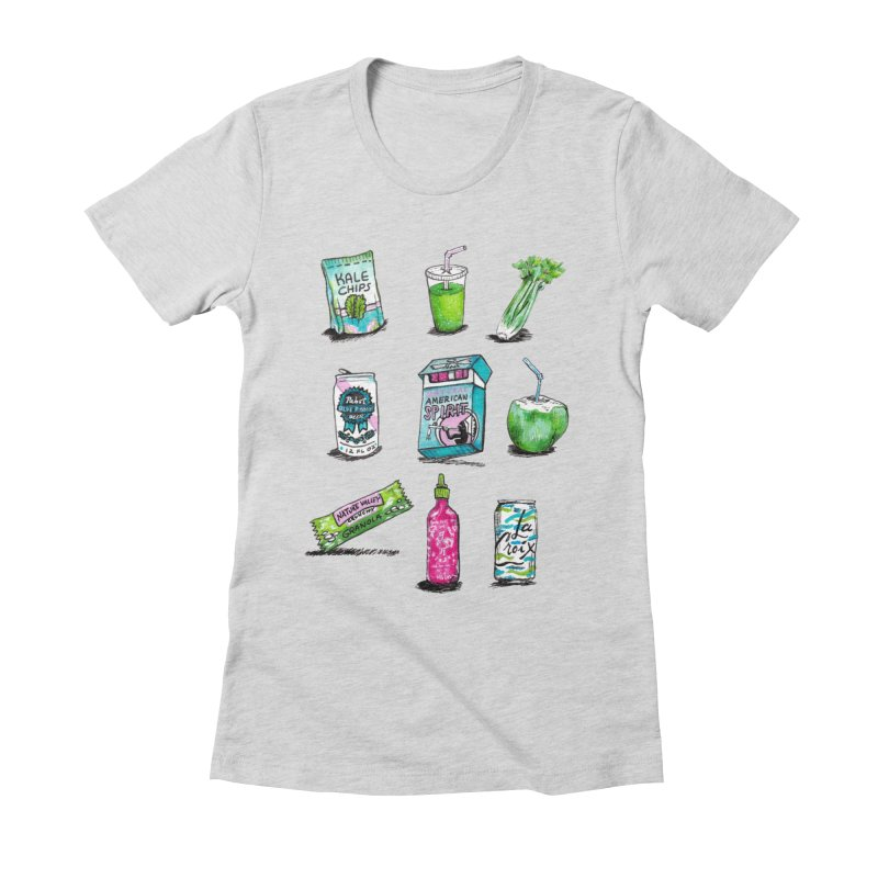 Snacksterpieces - Natural  Women's Fitted T-Shirt by PRINTMEGGIN