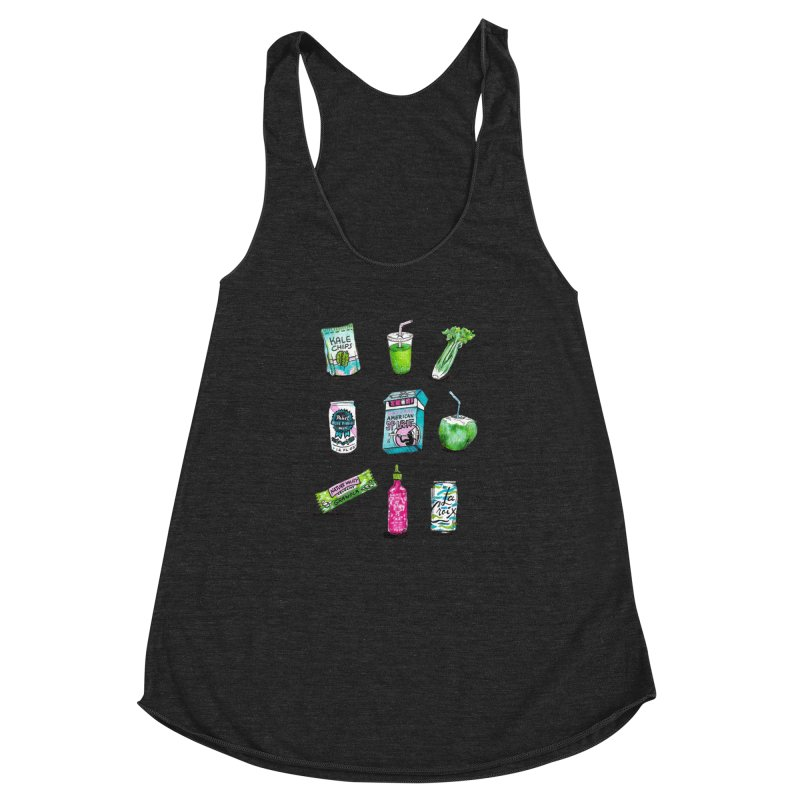 Snacksterpieces - Natural  Women's Racerback Triblend Tank by PRINTMEGGIN