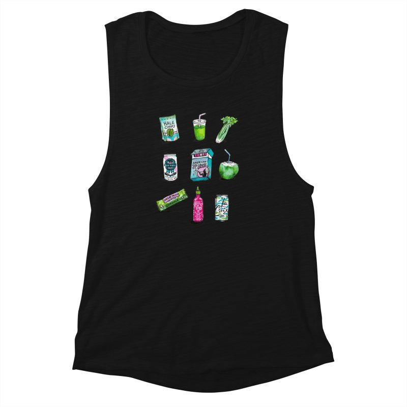 Snacksterpieces - Natural  Women's Muscle Tank by PRINTMEGGIN