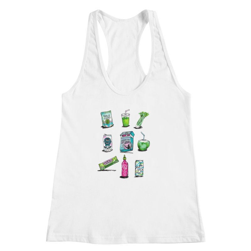Snacksterpieces - Natural  Women's Racerback Tank by PRINTMEGGIN