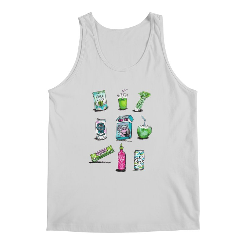 Snacksterpieces - Natural  Men's Tank by PRINTMEGGIN