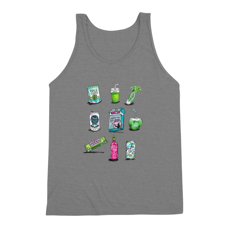 Snacksterpieces - Natural  Men's Triblend Tank by PRINTMEGGIN