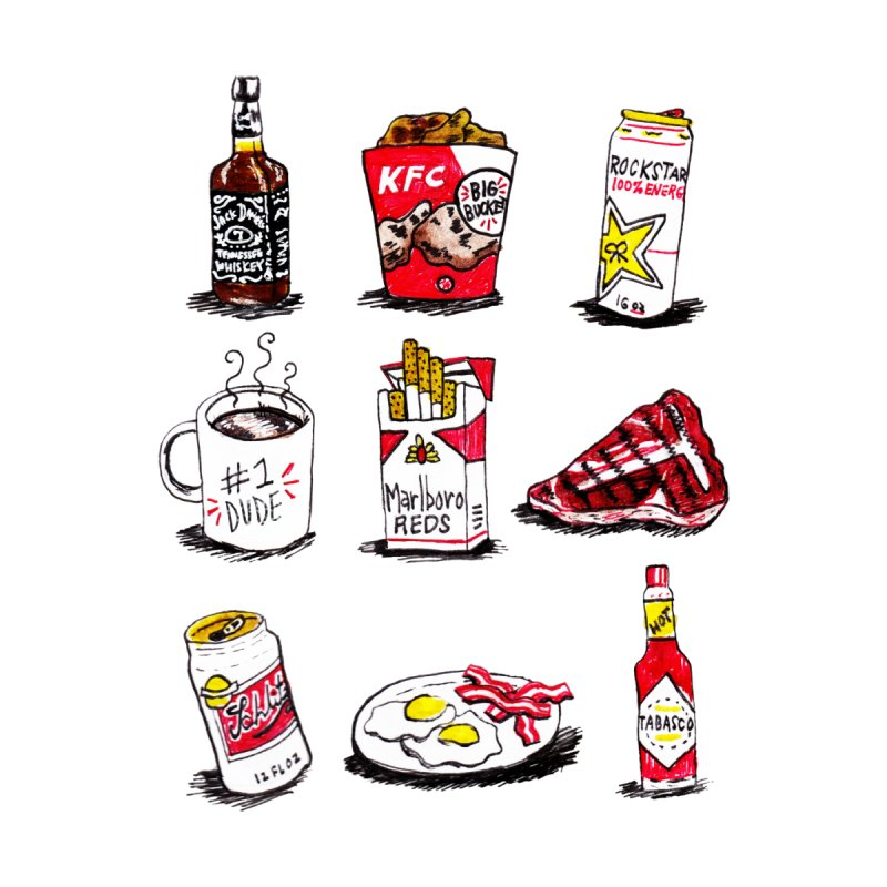 Snacksterpieces - Reds   by PRINTMEGGIN