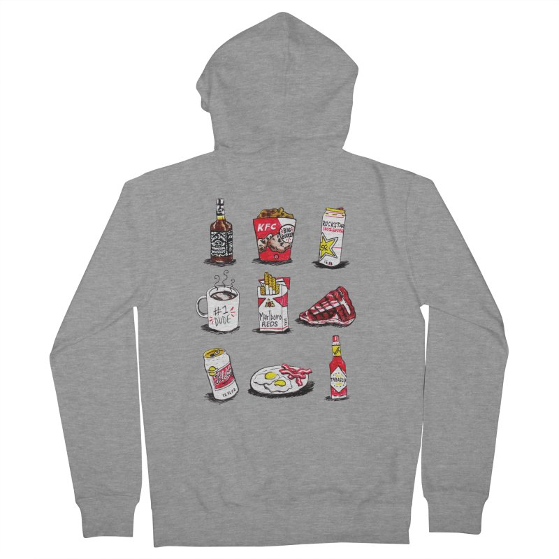 Snacksterpieces - Reds Men's Zip-Up Hoody by PRINTMEGGIN