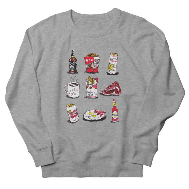 Snacksterpieces - Reds Men's Sweatshirt by PRINTMEGGIN
