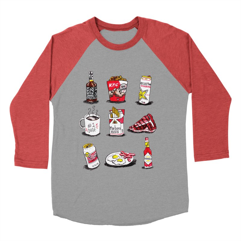 Snacksterpieces - Reds Men's Baseball Triblend T-Shirt by PRINTMEGGIN