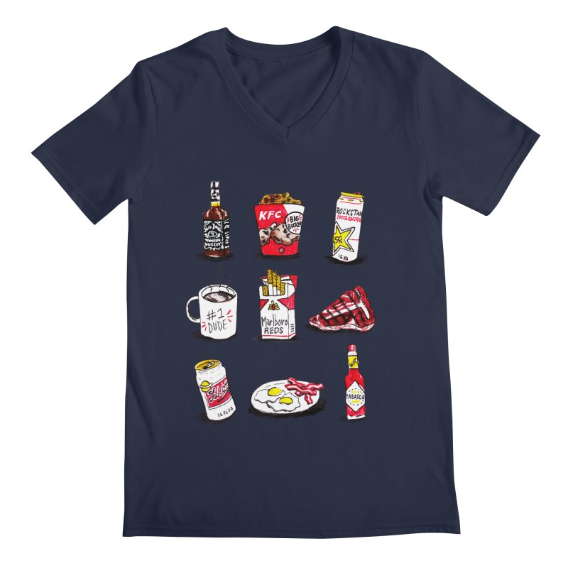 Snacksterpieces - Reds Men's V-Neck by PRINTMEGGIN