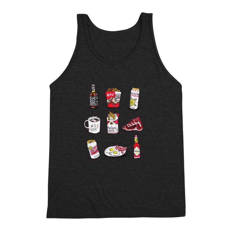 Snacksterpieces - Reds Men's Triblend Tank by PRINTMEGGIN