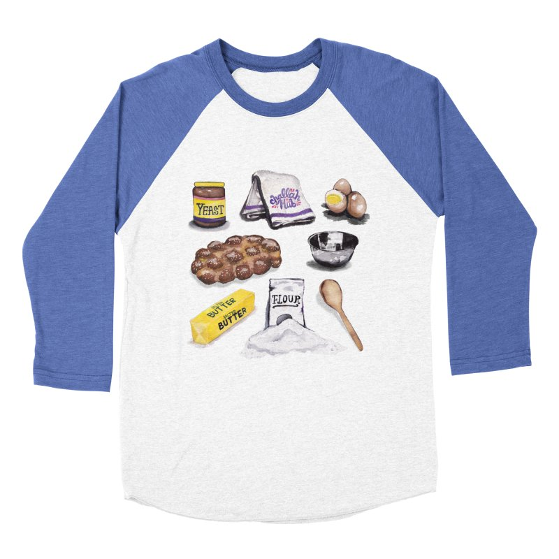 Challah Hub Snacksterpiece Women's Baseball Triblend T-Shirt by PRINTMEGGIN