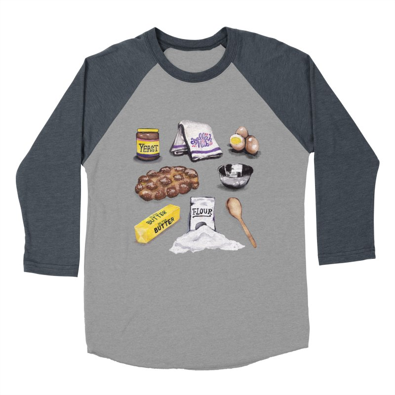 Challah Hub Snacksterpiece Men's Baseball Triblend T-Shirt by PRINTMEGGIN