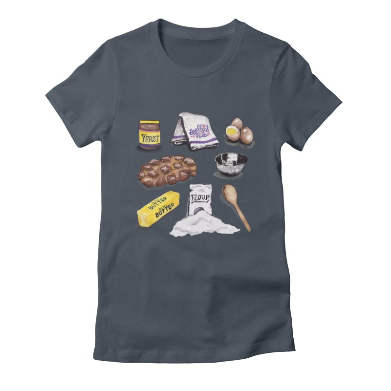 Challah Hub Snacksterpiece Women's Fitted T-Shirt by PRINTMEGGIN