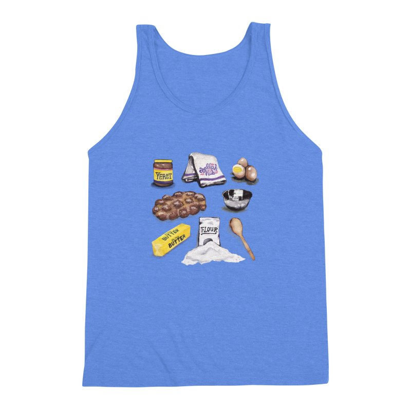 Challah Hub Snacksterpiece Men's Triblend Tank by PRINTMEGGIN
