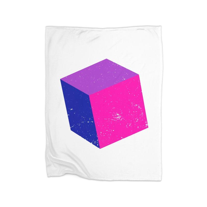 Bi - cubular Home Fleece Blanket Blanket by Prismheartstudio 's Artist Shop