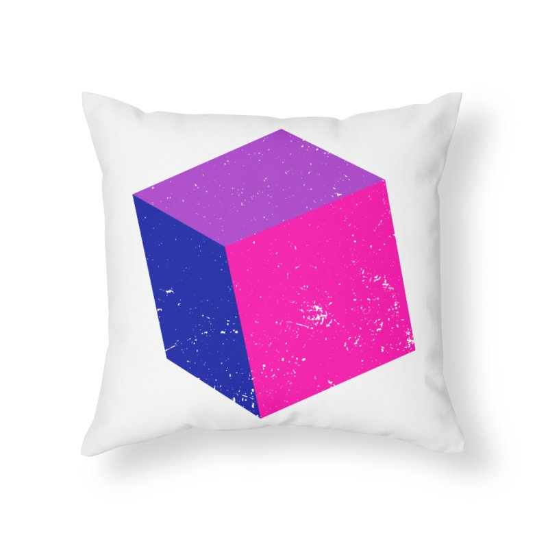 Bi - cubular Home Throw Pillow by Prismheartstudio 's Artist Shop