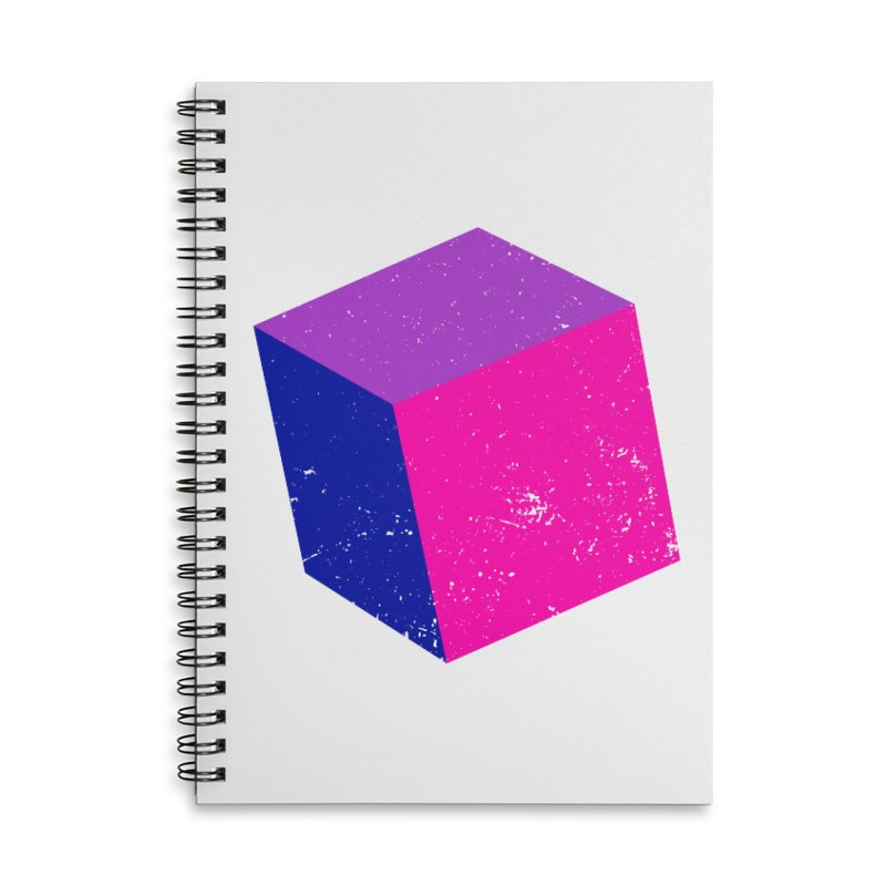 Bi - cubular Accessories Lined Spiral Notebook by Prismheartstudio 's Artist Shop