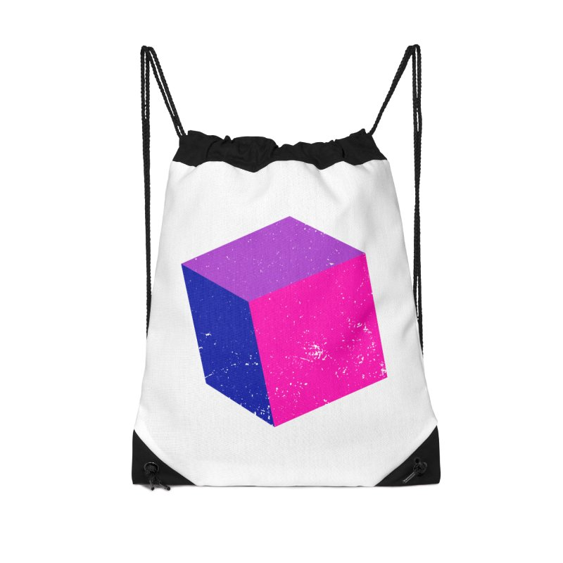 Bi - cubular Accessories Drawstring Bag Bag by Prismheartstudio 's Artist Shop